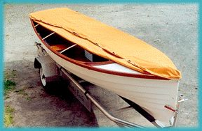 shot of boat cover showing wood rib supports