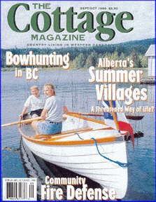 our rowboat on the cover of Cottage Magazine